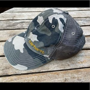 Carhartt Rugged Grey Camo Brandt Cap Hat